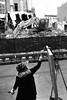 peggy still painting (Nashville Street Photography) Tags: streetphotographer streetphotographybnw bnw bw nashvilletn nashville tn tennessee nashvillestreetphotography ricohgrd ricohgrddigital ricohgrdiv painter painterpainting printersalley