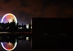 Noria al anochecer (alexsv92) Tags: noria noche nubes agua ua universidad cielo water longexposure largaexposicion larga exposicion canon night