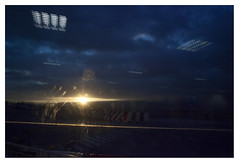 . (Angela Malavenda) Tags: airport lamezia terme calabria christmas leaving holiday winter home roots dawn light night blue sky glass reflection fingerprint