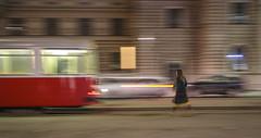 Missed (CoolMcFlash) Tags: panning vienna austria street streetphotography tram motion blur movement running person candid fujifilm xt2 night city urban missed mitziehen wien österreich strase bim strasenbahn bewegung bewegungsunschärfe laufen eilen hurry nacht stadt fotografie photography exposure belichtung xf 1024mm f4 r ois