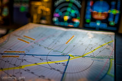 North Pole crossing from DXB to LAX... (Radial360) Tags: map route a380 northpole airbus xf16 cockpit cold flying xt2 crewlife flightdeck chart fujifilm pilot