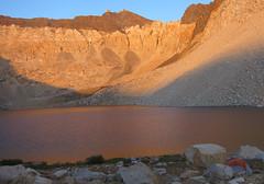 Dusk light on Cardinal Lake and Cardinal Mtn (apurdam (Andrew)) Tags: sierranevada california sierrahighroute day21