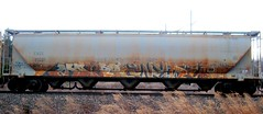 mando - wyse (timetomakethepasta) Tags: d30 mando wyse cagx grainer hopper rusted freight train graffiti art 2004