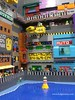 A Multi-Tiered City on Jaculus (Ludgonious) Tags: lego city build taxi alien scifi hovercar signs sign ads ad advertisement brothers tier bricks brick moc pages instagram