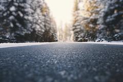 Bokeh road (kubaszymik) Tags: bokeh dof bokehlicious stars road path winter snow forest trees canon beskidy poland żywiec jeleśnia pov