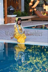 30100136 (wolfgangkaehler) Tags: 2017 asia asian southeastasia myanmar burma burmese mandalay ruparmandalarresort hotel accommodation travel tourism garden model models people woman women swimmingpool reflection reflections reflecting