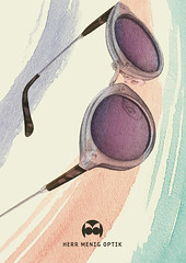 Herr Menig Optik Savoir Vivre (Philipp Zurmoehle) Tags: art sunglasses illustration germany painting glasses design drawing postcard nuremberg ad illustrations direction illustrator nürnberg optician handdrawn optik optiker philippzurmöhle philippzurmohle philippzurmoehle herrmenig herrmenigoptik artdircetion