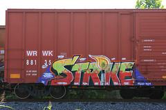(o texano) Tags: bench graffiti texas houston trains zee db strike freights rtd benching