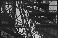 Abstract Bridge (Justin Barrie Kelly) Tags: blackandwhite bw geometric architecture modern triangles stairs photography geometry abstractart modernism architectural abstraction geometrical ironwork angular girders modernist blackandwhitephotography transporterbridge civilengineering kowasix victorianengineering kowa6 jbkelly justinbkelly justinbarriekelly cafenolcl industrialarcheological