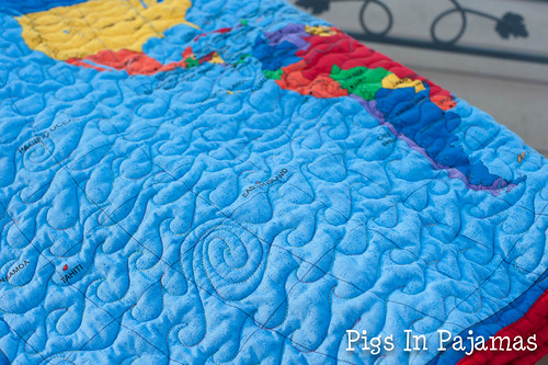 Map quilt detail