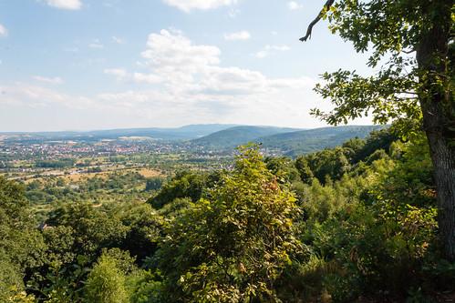Vue sur Saverne depuis le Mont Saint-Michel à Saint-Jean-Saverne