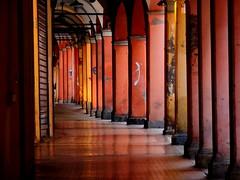 Bologna (Tu prova ad avere un mondo nel cuore...) Tags: reflection reflejo bologna portici  riflesso yansma reflexo    clat