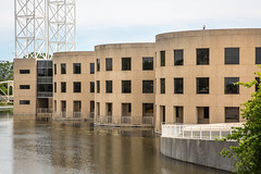 The Bunker Aesthetic (DanaGC) Tags: ontario building water architecture river office ottawa rideau offices on johngdiefenbaker foreignaffairs rideauriver johngdiefenbakerbuilding danagc