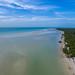 beach sandbank Holbox Mexico arerial - Luftbild