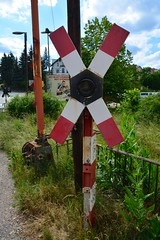 Colditz 2015  Railway crossing (Michiel2005) Tags: germany deutschland saxony sachsen duitsland railwaycrossing saxe colditz spoorwegovergang saksen andreaskruis andreascross