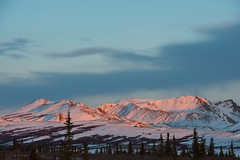 DSC7366a (Ben.d.s) Tags: road park trip blue sunset red sun mountains green set alaska night nikon ak roadtrip adventure national denali 70200 borealis denalinationalpark auroa d700 auroaborealis nikond700