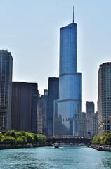 Trump Tower on the Chicago River (stevelamb007) Tags: chicago building architecture nikon cityscape trumptower chicagoriver trump 18200mm stevelamb d7200