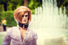 Flavian at Summer Garden (astramaore) Tags: summer white black male green fountain saint leather fashion garden toy necklace model doll raw outdoor handsome petersburg blond lukas 16 cheekbones royalty appeal