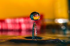 Water drop (Cathy_abd) Tags: eau figé fuite goutte deau h2o impact liquide pluie éclaboussure abstrait bleu decor onde vibration