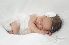DSC_0313 (Claire Jaggers Photography) Tags: newborn newbornphotography portrait babygirl baby girl infant color white sidelight umbrellalight nikon nikond700 nikon50mm18d prime indoo