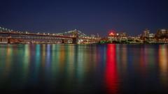 Watchtower (karinavera) Tags: travel sonya7r2 night urban brooklyn watchtower nyc cityscape longexposure bridge city newyork