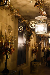 Clockwork (littlestschnauzer) Tags: nutcracker theme themed chatsworth house uk derbyshire stately home devonshire tourist attraction 2016 corridor cogs clock clockwork time decoration christmas xmas
