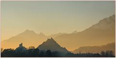 les sentinelles  🌄 the sentinels (www.nathalie-chatelain-images.ch) Tags: valais sion collines hills valèreettourbillon montagnes mountains coucherdesoleil sunset nikon