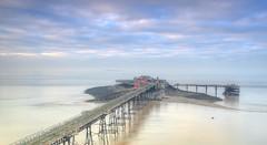 Birnbeck Pier, North Somerset. (Jeffpmcdonald) Tags: birnbeckpier westonsupermare bristolchannel n northsomerset uk birnbeckisland buildingsatriskregister derilict stormdamage nikond7000 jeffpmcdonald dec2016
