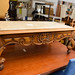 Antique solid marble coffee table