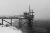 At the End of the Dock (Evan's Life Through The Lens) Tags: camera sony a7rii lens glass fun amazing friends adventure week blackandwhite bland white contrast dark storm snow blizzard ocean beach water