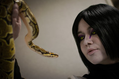 _DSC9671 (In Costume Media) Tags: orochimaru cosplay costume newcon newcon5 pdx naruto shippuden jiraiya kakashi sensei ninija cosplays cosplayers evil snake fight dark green eyes
