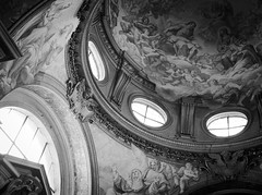 1623 - Santa Sabina (Diego Rosato) Tags: santa saint sabina chiesa church volta ceiling finestre windows affresco fresco bianconero blackwhite fuji x30 rawtherapee