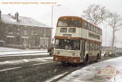 3819 braves the snow (Museum of Transport Greater Manchester archive) Tags: museum transport cheetham manchester wwwgmtscouk gmts bus buses museumoftransport gmtscollection greatermanchestertransportsociety boylestreet cheethamhill m88uw heatonmersey 3819 leyland atlantean mcw metrocammell metcam corporation greatermanchester greatermanchestertransport gmt snow end819d
