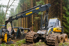 boys' toys (3) (grahamrobb888) Tags: nikon nikond800 nikkor50mmf18 birnamwood perthshire scotland dullweather trees industry forest mud