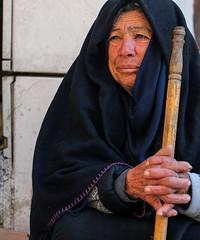 A Woman (ybiberman) Tags: israel jerusalem oldcity alquds muslimquarter woman portrait veil stick palm weddingring candid streetphotography