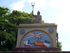 """Britannia and the British flag defeating the flags of Netherlands, Spain and France • <a style=""""font-size:0.8em;"""" href=""""http://www.flickr.com/photos/41849531@N04/17918186643/"""" target=""""_blank"""">View on Flickr</a>"""