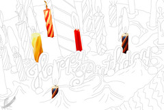 Birthday Cake (Jessica Greenslade) Tags: birthday food lines cake dessert candles drawn outline