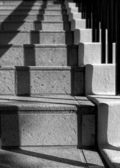 La Jolla Stairs II (autobahn66.com) Tags: california shadow urban blackandwhite sun rock stairs pattern sandiego lajolla structure