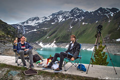 *Setup* (samuel.devantery) Tags: life friends two people mountain lake snow mountains alps green water smiling landscape outdoors switzerland togetherness spring sitting friendship happiness bbq patient damn dope alp wallis lifestyles