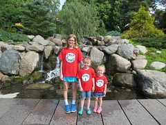 Emily and cousins visit the Lego sculpture garden (abbamouse) Tags: lucy emily greta 2015