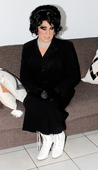 Black Suit (Christine Fantasy) Tags: heavymakeup makeup bra cd christine crossdresser drag earrings elegant fantasy feminine glamour gloves heels jewellery necklace sexy shemale skirt stiletto boots stockings suit transsexual transvestite vintage
