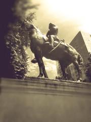 Effigy (TMimages PDX) Tags: park sculpture usa bronze vintage geotagged photography photo image explore photograph portlandoregon vignette fineartphotography roughrider flickrexplore southparkblocks explored iphoneography