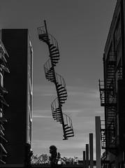 The Amazing Floating Spiral Staircasebw (Kool Cats Photography over 7 Million Views) Tags: abstract art oklahoma architecture floating magical spiralstaircase automobilealley