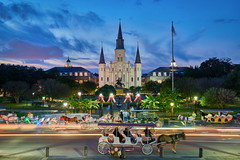 Blue New Orleans (denny.yang) Tags: new orleans blue hour french quarter st louis cathedral jackson square horse carriage long exposure christmas holiday sony a7rii a7rm2 1635mm denny yang dennyyang