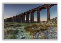 Frosty Morning (Steven Peachey) Tags: ribblheadviaduct northyorkshire morning 2017 landscape sunrise canon6d ef1740mmf4l leefilters lee09gnd stevenpeachey frosty dales moors lightroom