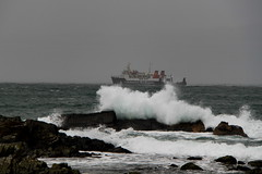 The Colonsay Ferry (Tina-Pina) Tags: calmac ferry colonsay advent december argyll scotland gloom splash waves isleofseil