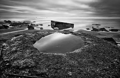 fort funston man made pool (hbphototeach) Tags: fortfunston fortfunstonbeach sanfrancisco bayarea california seascape seascapephotography longexposure longexposurephotography blackandwhite blackandwhitephotography militarybattery manmadeandnature contrast mirrorless sonya7rii 1635mm