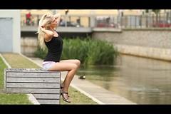* (Henrik ohne d) Tags: eos7d ef85mmf18 july2016 portrait mandy blonde denim jeans heels