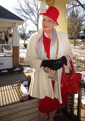 Lady For A Day (Laurette Victoria) Tags: lady woman coat winter gloves hat scarf purse laurette