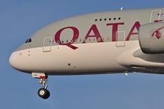 QR0003 DOH-LHR (A380spotter) Tags: landing approach arrival finals shortfinals threshold enginealliance gp7200 gp7270 turbofan engine powerplant undercarriage landinggear nosegear belly airbus a380 800 msn0193 a7apg عتبه athba qatar القطرية qatarairways qtr qr qr0003 dohlhr runway27r 27r london heathrow egll lhr